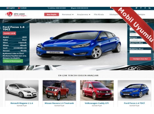 Rent A Car Web Paketi Simple v 2.5