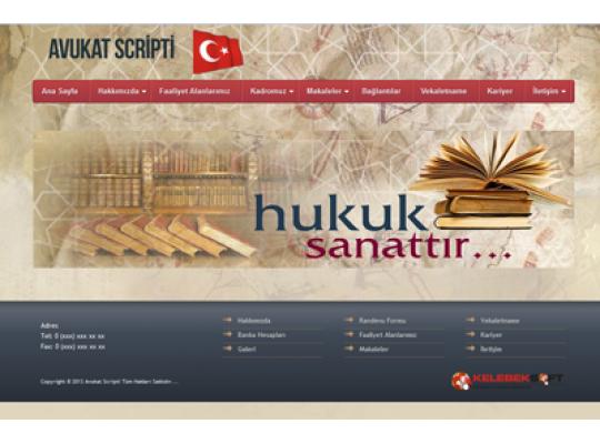 Avukat / Hukuk Hazır site Script